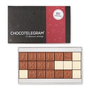 Chokolade telegram - 21 tegn