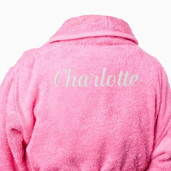Gyermek fürdőköpeny - rózsaszín (80-92)