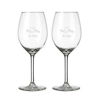 Wit wijnglas - 2 stuks