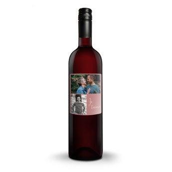 Vin Belvy rouge - Bouteille personnalisée