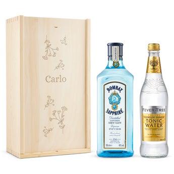Set Gin e Tonic Bombay Sapphire Gin - In Confezione Incisa