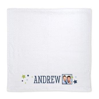 Photo towel - White