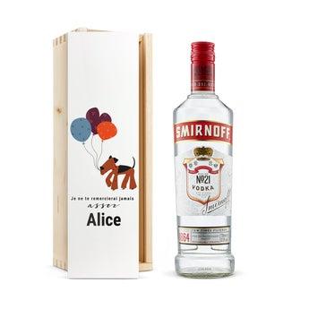 Vodka Smirnoff personnalisée - Coffret gravé