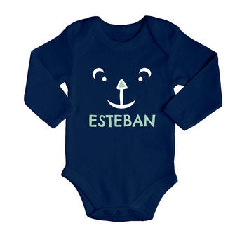 Body bébé - Manches longues - Bleu marine -  50/56