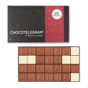 Sjokolade telegram - 28 tegn