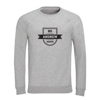 Custom sweatshirt - Menn - Grå - XXL