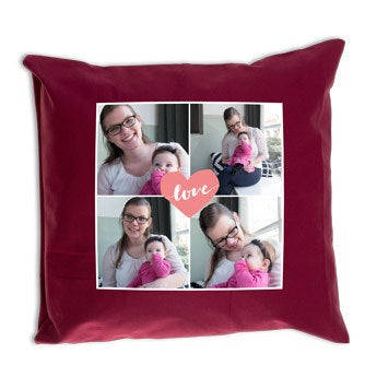 Mother's Day cushion - Bordeaux