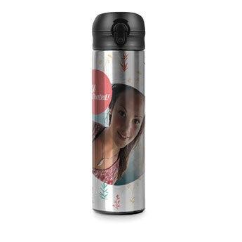 Thermo Trinkflasche - Aluminium Look