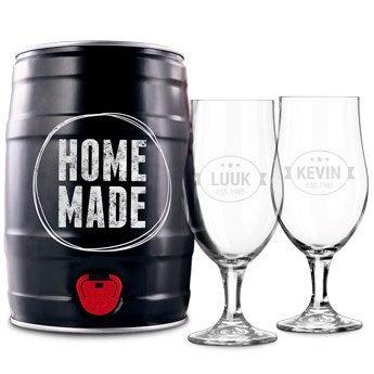 Bierbrouw pakket met glazen - IPA