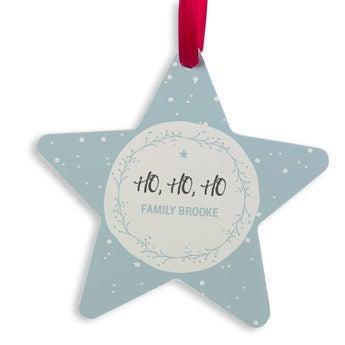 Christmas hanger aluminum - Star (2)