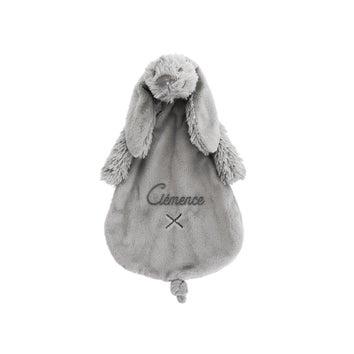 Doudou lapin personnalisé - Richie - Gris