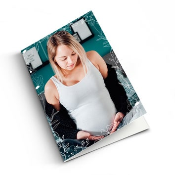 Muttertagskarte mit Foto - M - Vertikal
