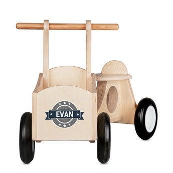 Bicicleta de carga para niños (madera)
