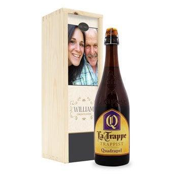 La Trappe Quadrupel beer - Custom box