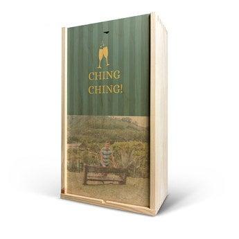 Caixa de madeira - impressão em madeira - duplo