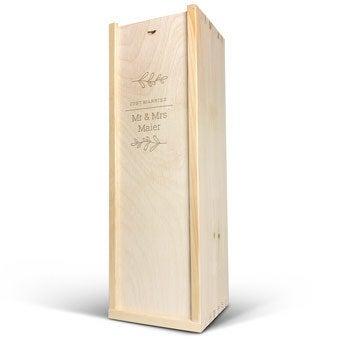 Magnum Weinkiste mit Gravur - 3 Flaschen