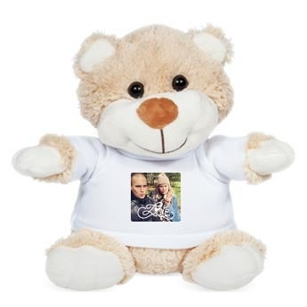 Personalised cuddly toy with photo - Betsy Bear