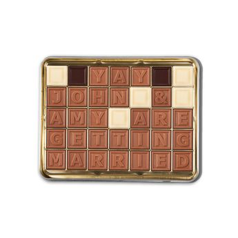 Personalised chocolate photo