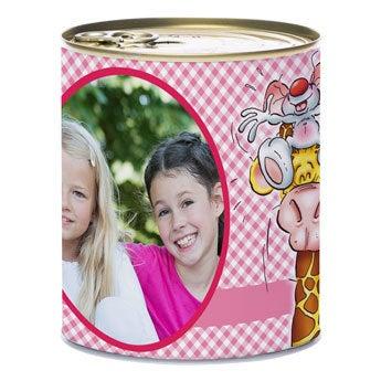 Doodles Lata personalizada con dulces - Winegums