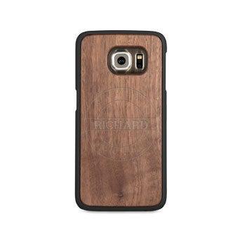 Caixa de telefone de madeira - Samsung Galaxy s6 edge