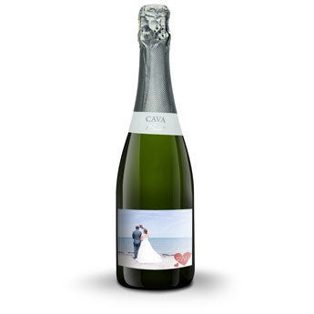 Cava with personalised label - Palau Semi Sec - 750 ml