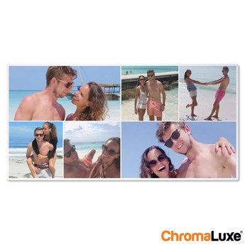 Chromaluxe Fototafel -  Weiß 60x30 cm