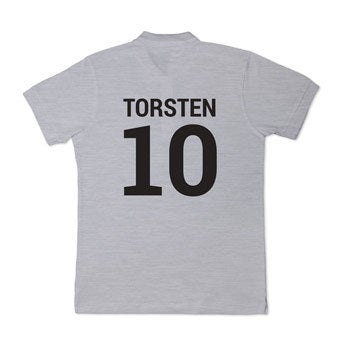 Poloshirt - Herren - Grau - M