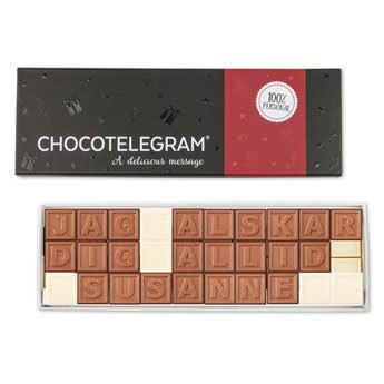 Choklad meddelande - 30 bokstäver
