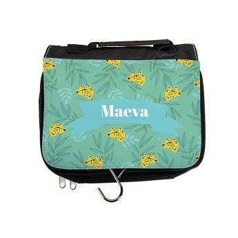 Personalised travel toiletry bag