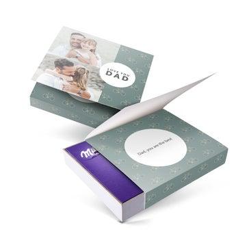 Darčeková krabička Milka - Deň otcov - 220gr (Srdce)