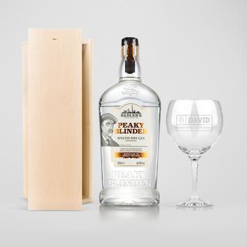 Gin darčeková súprava - Peaky Blinders (gravírované puzdro)