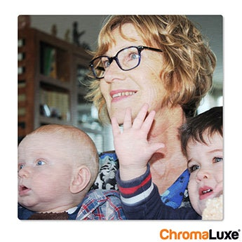 Chromaluxe Aluminium photo - Brushed - 50x50cm