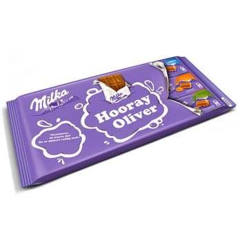 Barra de Chocolate Milka Gigante com Nome