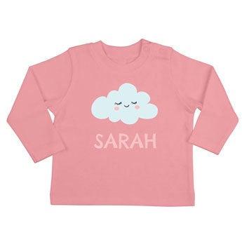 T-shirt til babyer - Langærmet - Lyserød - 50/56