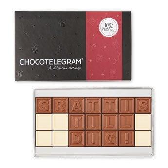 Choklad meddelande (21 bokstäver)