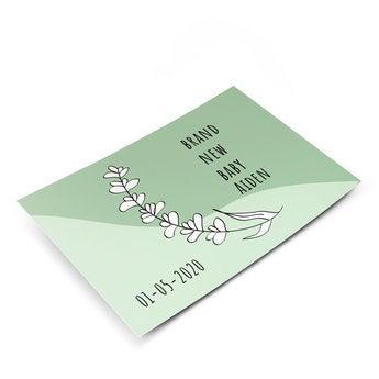 Postkarte mit Foto - Geburt