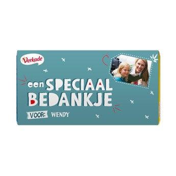 Verkade chocoladereep - Bedankje (Hazelnoot)