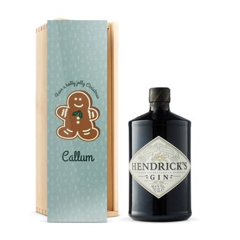 Hendrick 's gin v gravírováním krabici