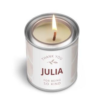 Személyre szabott illatos gyertya - Az ajándék címke - 90 g