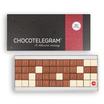 Sjokolade telegram - 48 tegn