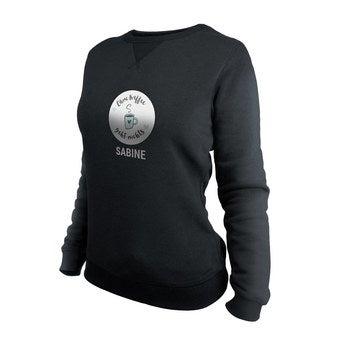 Pullover Damen bedrucken - Schwarz - XL
