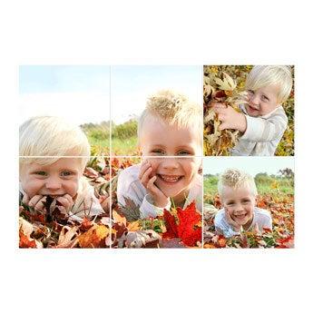 Instagram Fotocollage - 20x20 Hochglanz horizontal (Set von 6)