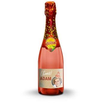 Champagne sin alcohol personalizado para niños