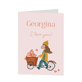 Valentin-napi képeslap - XL - függőleges
