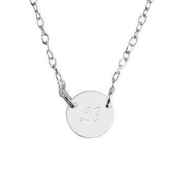 Collana in argento con iniziale - Targhetta