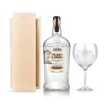 Dárková sada Gin - Peaky Blinders (ryté pouzdro)