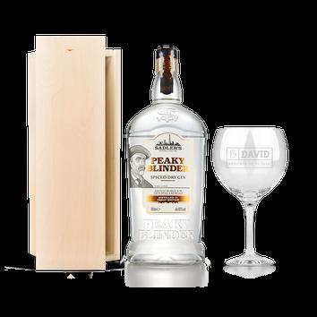 Gin ajándék szett - Peaky Blinders (vésett tok)