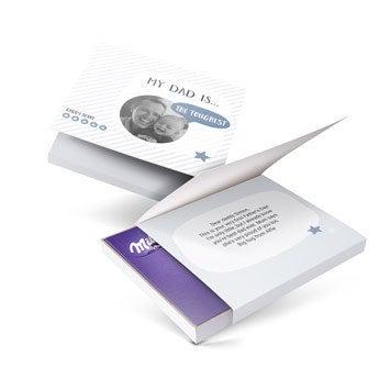 Darčeková krabička Milka - Deň otcov - 110gr (Srdce)