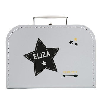 Decorative children's suitcase - Grey - Medium