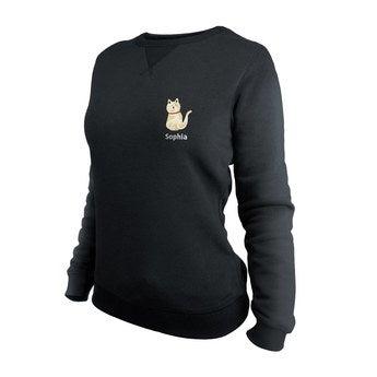Egyéni pulóver - Nők - Fekete - S